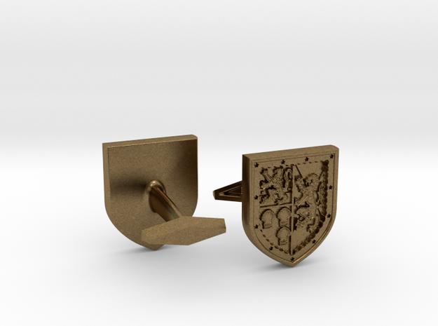 Heraldic Cufflinks [Stewart-Melville] 3d printed