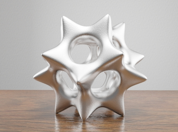 Dodecahedron Pendant Type A in White Natural Versatile Plastic: Small