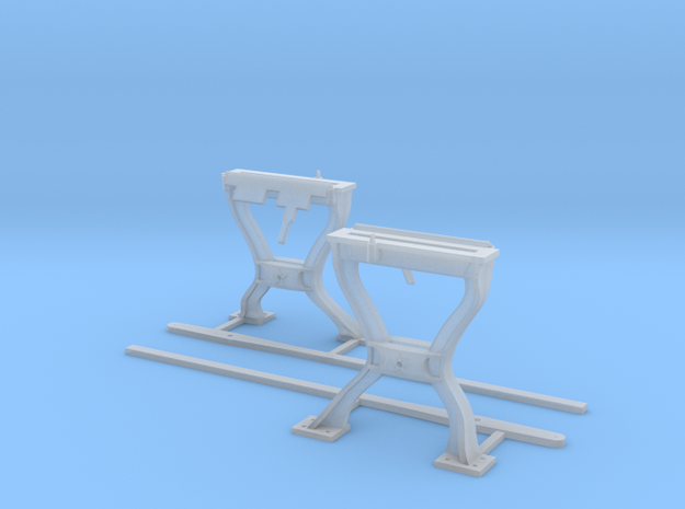 Harp Switch Stand - Flat top w/ 2 legs  - Two Pack in Smoothest Fine Detail Plastic
