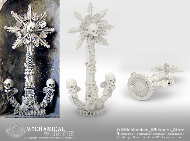Sedlec Ossuary Bone Monstrance in White Natural Versatile Plastic