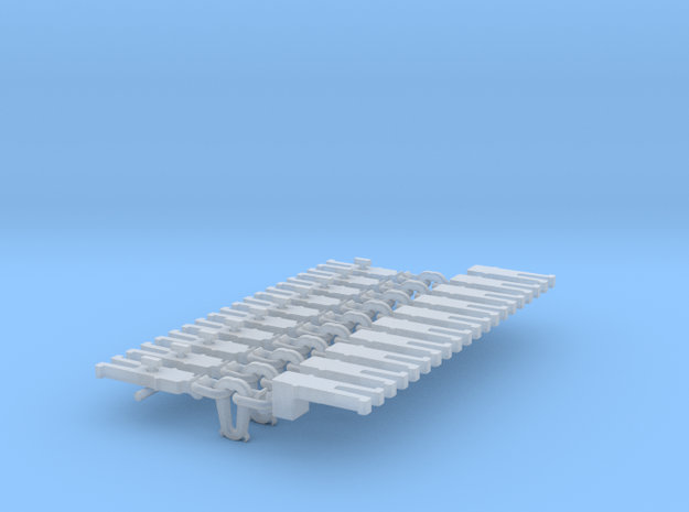 NEM OO Type 5 Couplings - Adaptor 3 Link x10 in Smooth Fine Detail Plastic