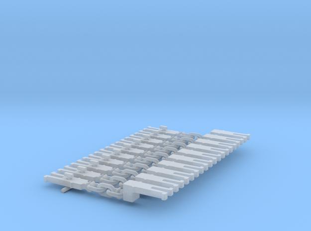 NEM OO Type 6 Couplings - Adaptor 3 Link x10 in Smooth Fine Detail Plastic