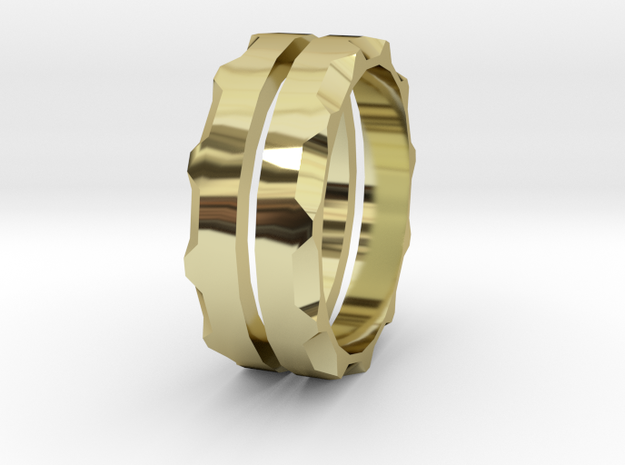 Together ring in 18k Gold Plated Brass