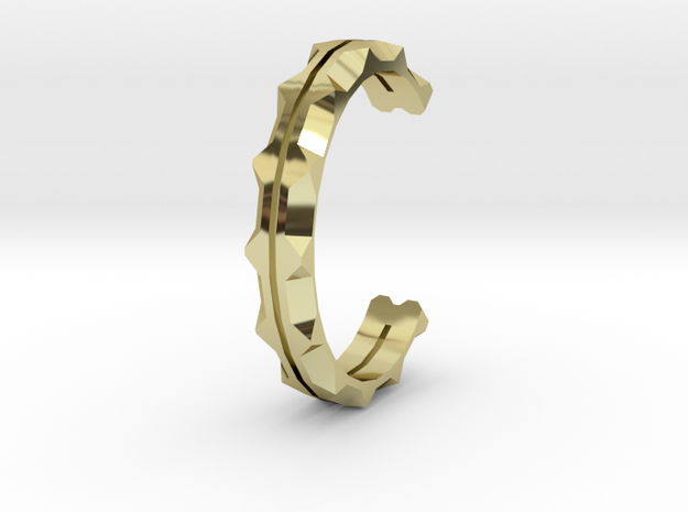 Caught up cuff in 18k Gold Plated Brass