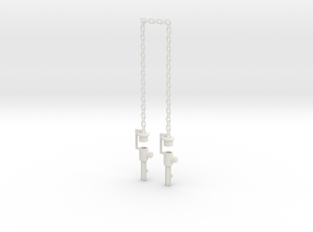 Chained Weapons--LONG Rev1 in White Natural Versatile Plastic