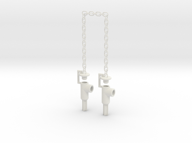 Chained Weapons--SHORT--Rev1 in White Natural Versatile Plastic