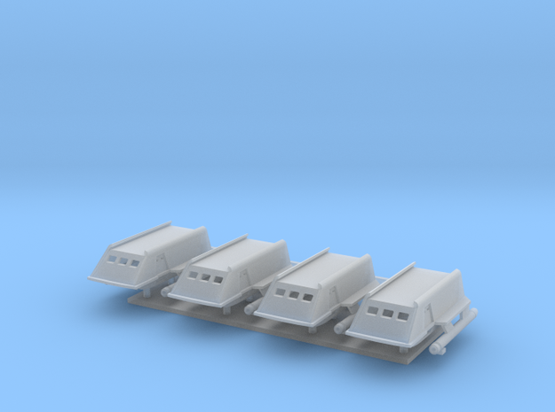 1/350 TOS Shuttlecraft - Four Pack in Smooth Fine Detail Plastic