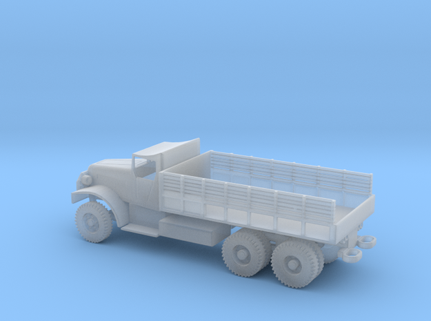 1/100 Scale White 6-ton 6x6 Cargo Truck LWB in Smooth Fine Detail Plastic