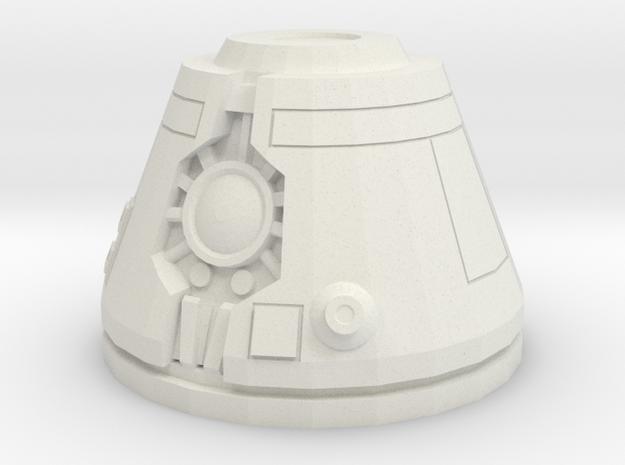 Assassin Bot Head (Bandai Kit Scale) in White Natural Versatile Plastic