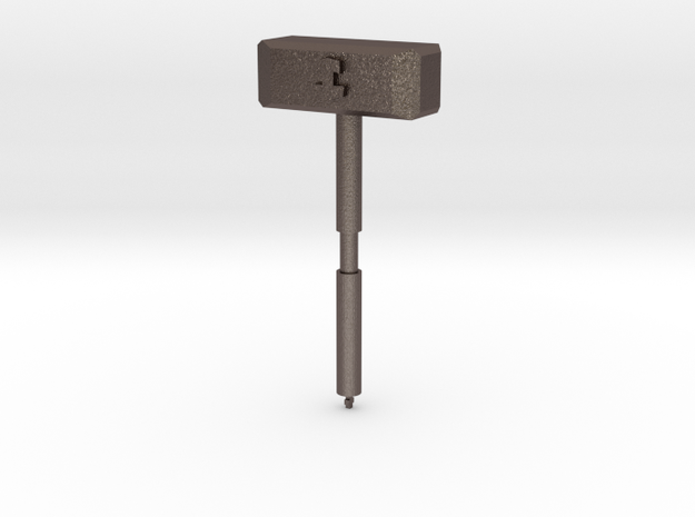 Mjolnir Chess Piece (Queen) in Polished Bronzed Silver Steel