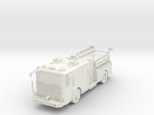 ~1/87 HO Seagrave-Engine in White Natural Versatile Plastic