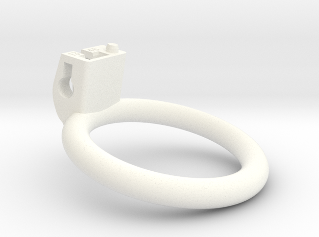 Cherry Keeper Ring - 46mm Flat Ring +13degrees in White Processed Versatile Plastic