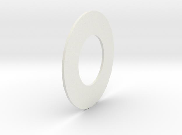Thinnest Washer in White Natural Versatile Plastic