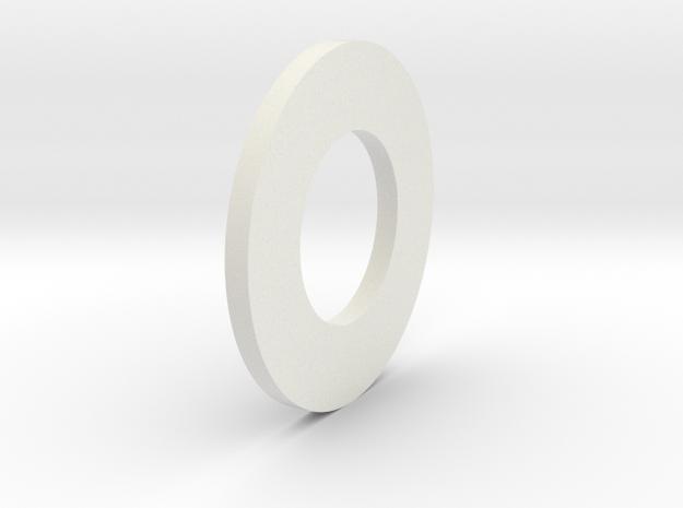Thin Washer in White Natural Versatile Plastic