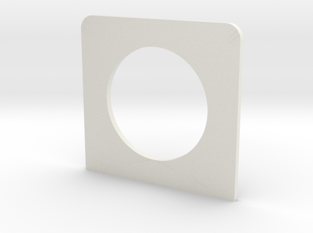 Switch box end plate in White Natural Versatile Plastic