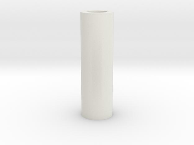 Short Tubular Spacer in White Natural Versatile Plastic