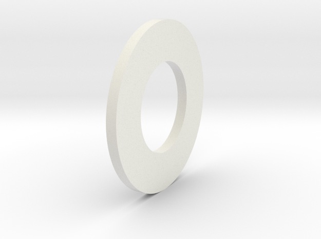 Fibre Friction Washer in White Natural Versatile Plastic