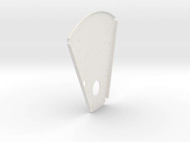 Back Plate in White Natural Versatile Plastic