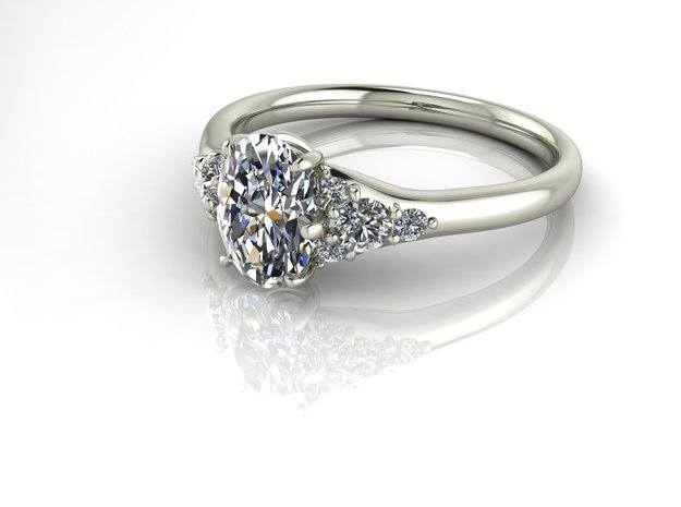 Classic Solitaire 28 NO STONES SUPPLIED in Fine Detail Polished Silver