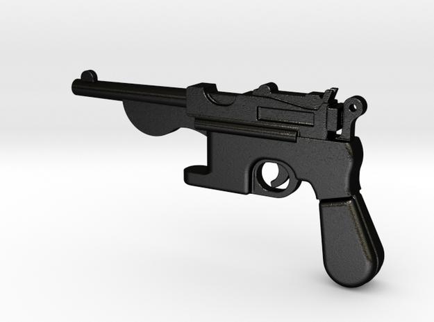 Gun bottle opener 1 in Matte Black Steel