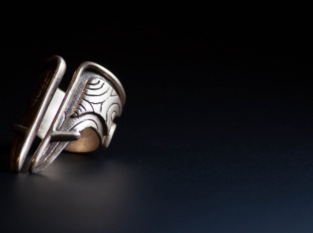 Bakara Ring size 8 in Polished Bronze Steel