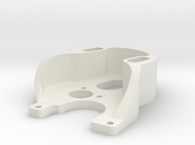 Axial SCX24 Deadbolt 370 motor mount. in White Natural Versatile Plastic