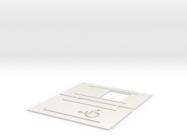 Handicap Parking Templates (HO) in White Natural Versatile Plastic: 1:87 - HO