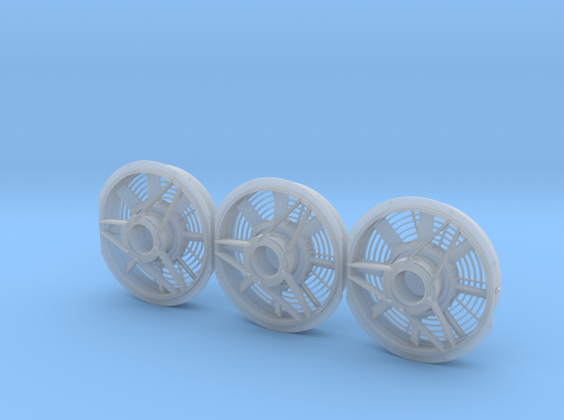 8 Blade Standard Radiator Fan 1/48 in Smoothest Fine Detail Plastic