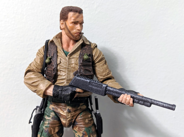 "Terminator Kenner-style Shotgun 7"" scale in White Processed Versatile Plastic"