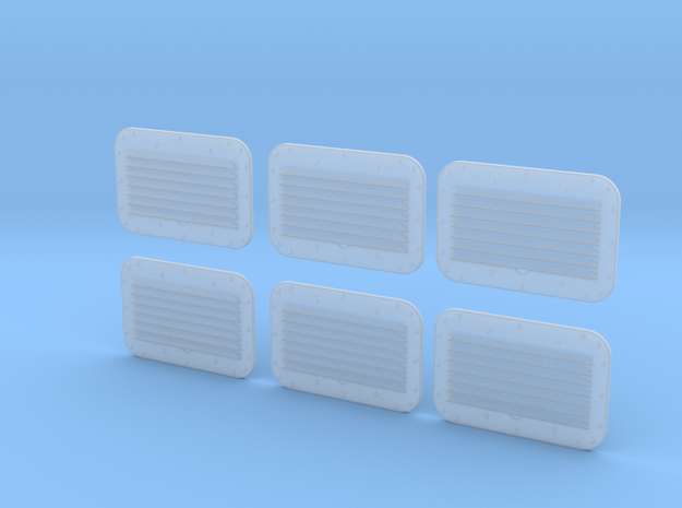 1.6 grilles X6 BELL in Smooth Fine Detail Plastic