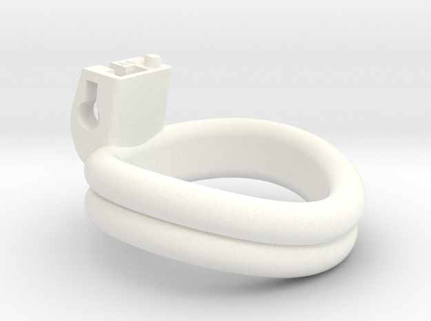 Cherry Keeper Ring - 44mm Double in White Processed Versatile Plastic