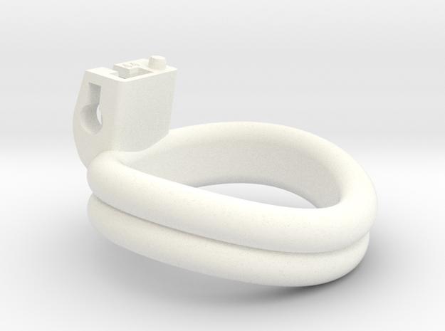 Cherry Keeper Ring - 44mm - Double Ergonomic in White Processed Versatile Plastic