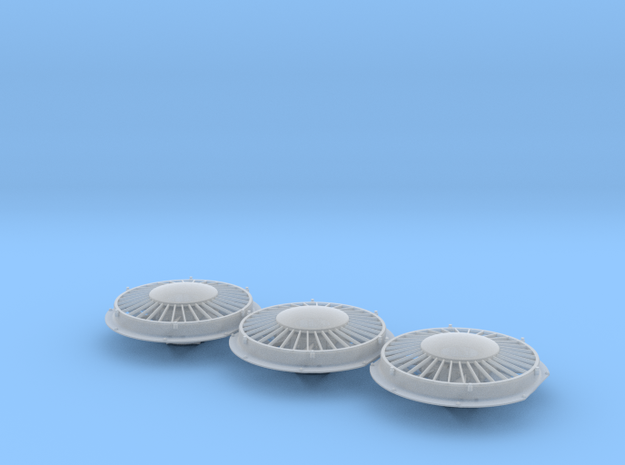 "48"" Cap Top Radiator Fan 1/48 in Smoothest Fine Detail Plastic"