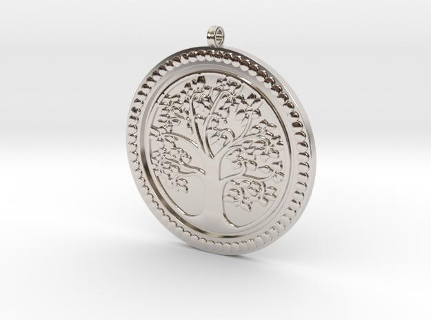 Tree of Life Pendant KTPF01 by KTkaRAJ in Rhodium Plated Brass