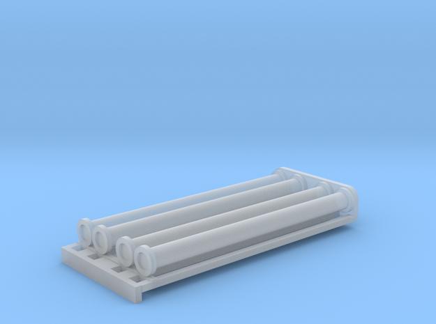 Saugschlauchsatz A 2,5m mit Rost - 1:87 H0 in Smooth Fine Detail Plastic