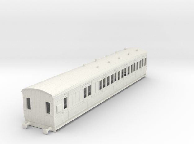 o-43-gcr-london-sub-brake-3rd-coach in White Natural Versatile Plastic
