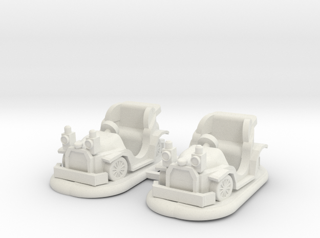 O scale Bumper Cars 2 pac in White Natural Versatile Plastic