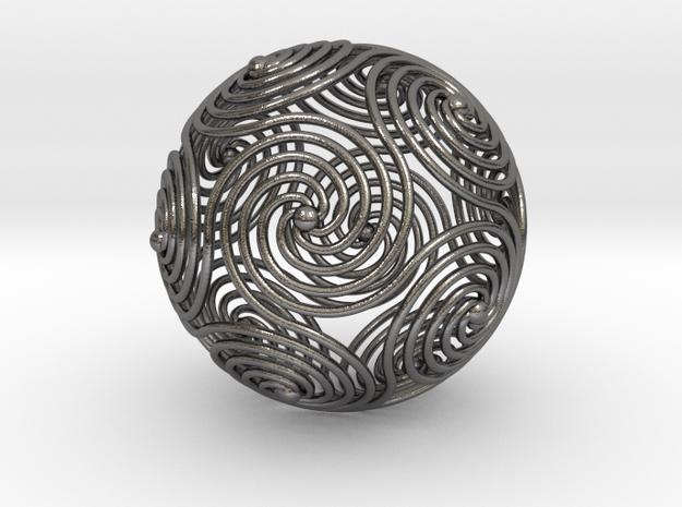 Spiraling Icosahedron | 4mm 3d printed