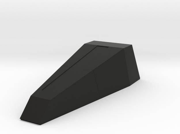 1/96 scale Zumwalt AGM_V8 Gun Shell in Black Natural Versatile Plastic
