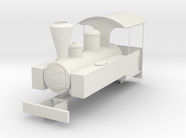 b-19-decauville-mallet-0440t-loco in White Natural Versatile Plastic