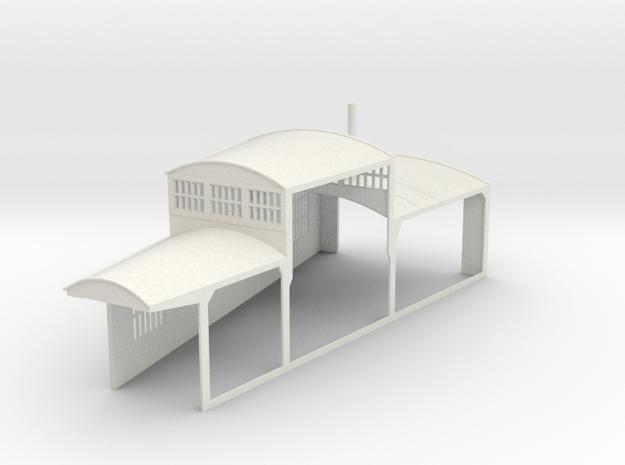z-160-roundhouse-15-deg-left-side-section-open-1 in White Natural Versatile Plastic