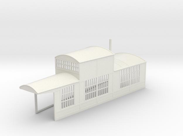 z-160-roundhouse-10-deg-right-side-section-open-1 in White Natural Versatile Plastic
