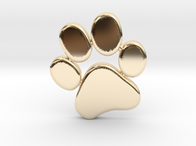 PawPrint Pendant in 14K Yellow Gold