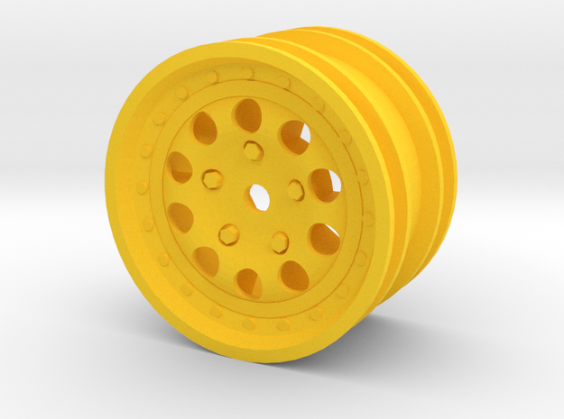 959-rim modified to fit M-Chassis size tires. in Yellow Processed Versatile Plastic