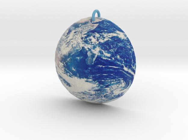 Planet Earth Pendant in Full Color Sandstone