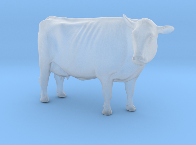 1/64 Dairy Cow Standing Looking Right in Smooth Fine Detail Plastic