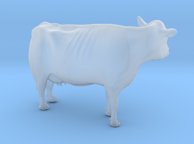 1/64 Dairy Cow Standing Looking Left in Smooth Fine Detail Plastic