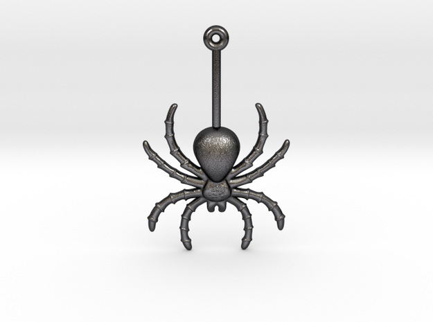 Spider Earring in Polished and Bronzed Black Steel