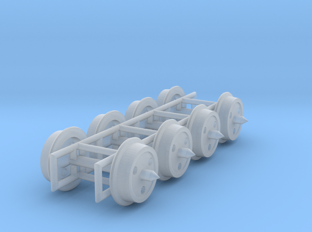"""2'9"""" 3 hole disc wheels for 3mm:1ft scale in Smoothest Fine Detail Plastic"""