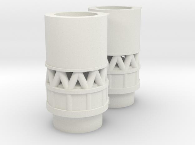 1/200 SOVIET ROCKET INTERSTAGE PARTS in White Natural Versatile Plastic